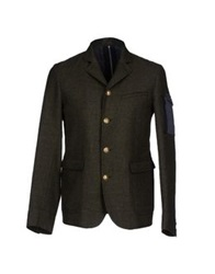 M.Grifoni Denim Blazers Military Green
