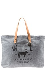 Will Leather Goods 'Small Classic' Tote Grey