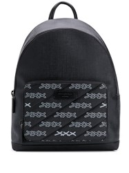 Ermenegildo Zegna 'Xxx' Logo Printed Backpack Black