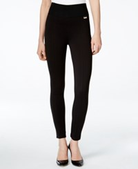 Calvin Klein Pull On Wide Waistband Knit Pants Black
