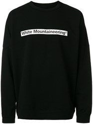 White Mountaineering Logo Print Sweatshirt Black