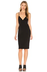 Alexander Wang Fitted Spaghetti Strap Dress Black