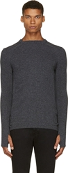 Alexandre Plokhov Charcoal Grey Wool And Cashmere Sweater