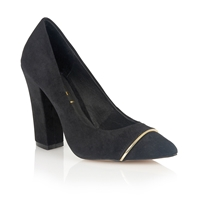 Ravel Oakridge Ladies Court Shoes Black Suede