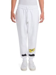 Off White Heat Transfer Pants White Black
