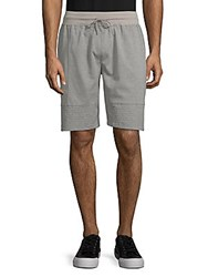 American Stitch Pique Drawstring Shorts Grey
