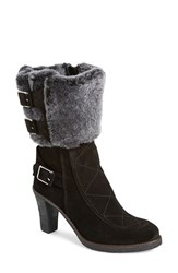 Women's Johnston And Murphy 'Jeanie' Shearling Cuff Bootie 3 1 4' Heel