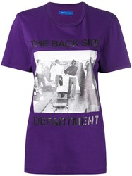 Department 5 The Back Side Print T Shirt Pink And Purple