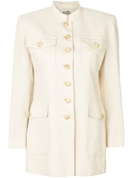 Hermes Vintage Military Style Jacket Nude And Neutrals