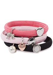 Marc Jacobs Poodle Cluster Set Of Three Hair Bands Pink