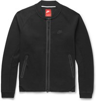 Nike Cotton Blend Tech Fleece Varsity Jacket Black