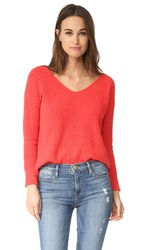 Bb Dakota Zona Boyfriend Sweater Valentine Red