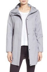 Kristen Blake Women's Hooded Utility Trench Coat Steel