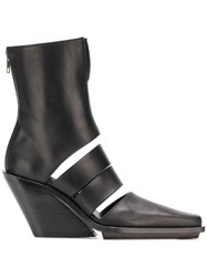 Ann Demeulemeester Cut Out Ankle Boots Black