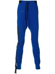 Unravel Project Drop Crotch Track Trousers Blue