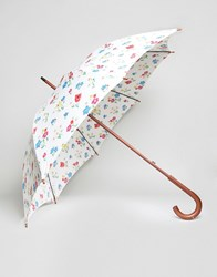 Cath Kidston Kensington Walking Umbrella In Town Houses Print Town Houses Multi