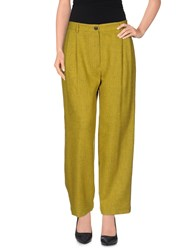 Mauro Grifoni Trousers Casual Trousers Women Acid Green