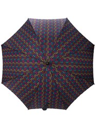 Missoni Vintage 1980'S Monogram Umbrella Black