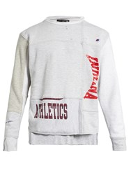 Longjourney Nash Athletics Print Cotton Jersey Sweatshirt Light Grey