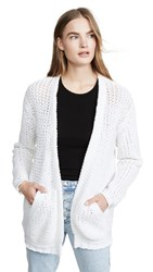 Brochu Walker Gales Cardigan Salt White
