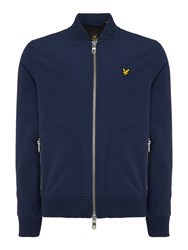 Lyle And Scott Bomber Zip Through Jacket Navy