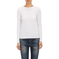 Barneys New York Micro Knit Long Sleeve T Shirt White