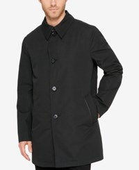 Cole Haan Men's Car Coat With Removable Liner Black