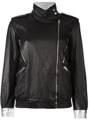 Saint Laurent Zip Detail Jacket Black