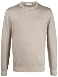 Cruciani Slim Fit Knitted Jumper Neutrals