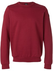 Paul And Shark Logo Patch Jumper Red