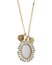 Sequin Celestial Crystal Pendant Necklace Gold