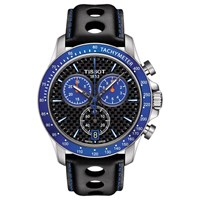 Tissot T1064171620101 Men's V8 Alpine Chronograph Date Leather Strap Watch Black