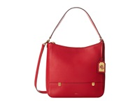 Lauren Ralph Lauren Morrison Double Zip Hobo Red Hobo Handbags