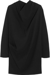 Bouchra Jarrar Draped Crepe Mini Dress Black