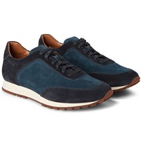 Loro Piana Weekend Walk Suede Sneakers Navy