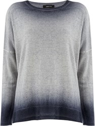 Avant Toi Bleached Effect Sweater Grey