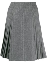 Ermanno Scervino Pleated Skirt Grey