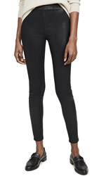 L'agence Rochelle Coated Pull On Pants Black