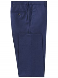 Chester Barrie Dark Blue Brushed Cotton Trousers