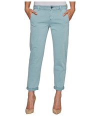Liverpool Billy Trousers Rolled Cuff In Stretch Peached Twill In Slate Blue Slate Blue Women's Jeans
