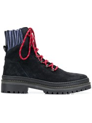 Tommy Hilfiger Lace Up Hiking Boots Blue