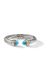 David Yurman Cable Classics 14Kt Gold Detailed And Turquoise 10Mm Cuff S4btr