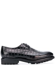 Doucal's Croco Effect Derby Shoes 60