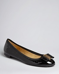 Kate Spade New York Round Logo Toe Ballet Flats Tock Black