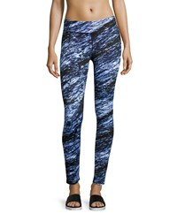 Marc New York Marc Ny Performance Abstract Printed Cropped Leggings Cornflower Sketch