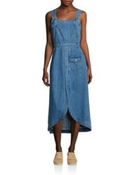 See By Chloe Denim Overall Dress Washed Indigo