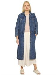 Helmut Lang Cotton Denim Trench Coat