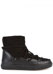 Inuikii Black Shearling Lined Suede Boots