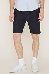 Forever 21 Micro Dotted Cotton Shorts Navy