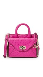 Diane Von Furstenberg 440 Gallery Secret Agent Mini Tote Summer Beet